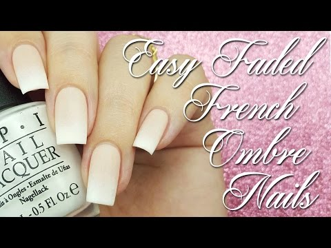Easy Faded French Ombre Nails
