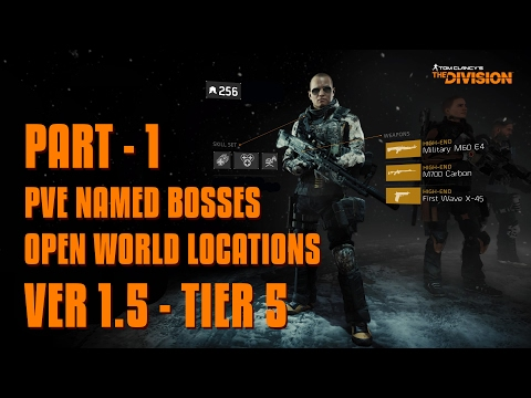 The Division - Ver 1.5 - Tier 5 - PVE Open World Named Bosses - Part 1