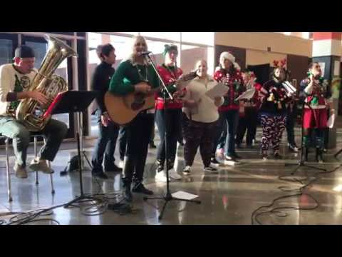 Winona Senior High School staff holiday singalong