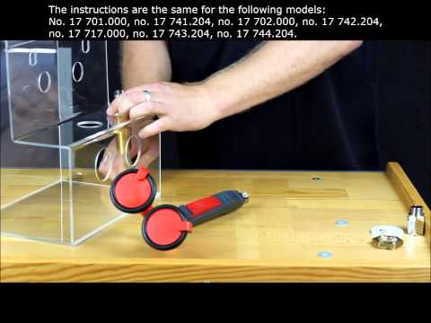 Assembly instruction Hand Held Eye Shower - table mounting - Classic models
