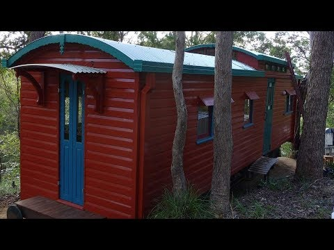 Amazing Tiny House built from old Train carriages
