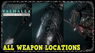 All Weapon Locations and Showcase in Wrath of the Druids (Gae Bolg, Shields, Great Sword)