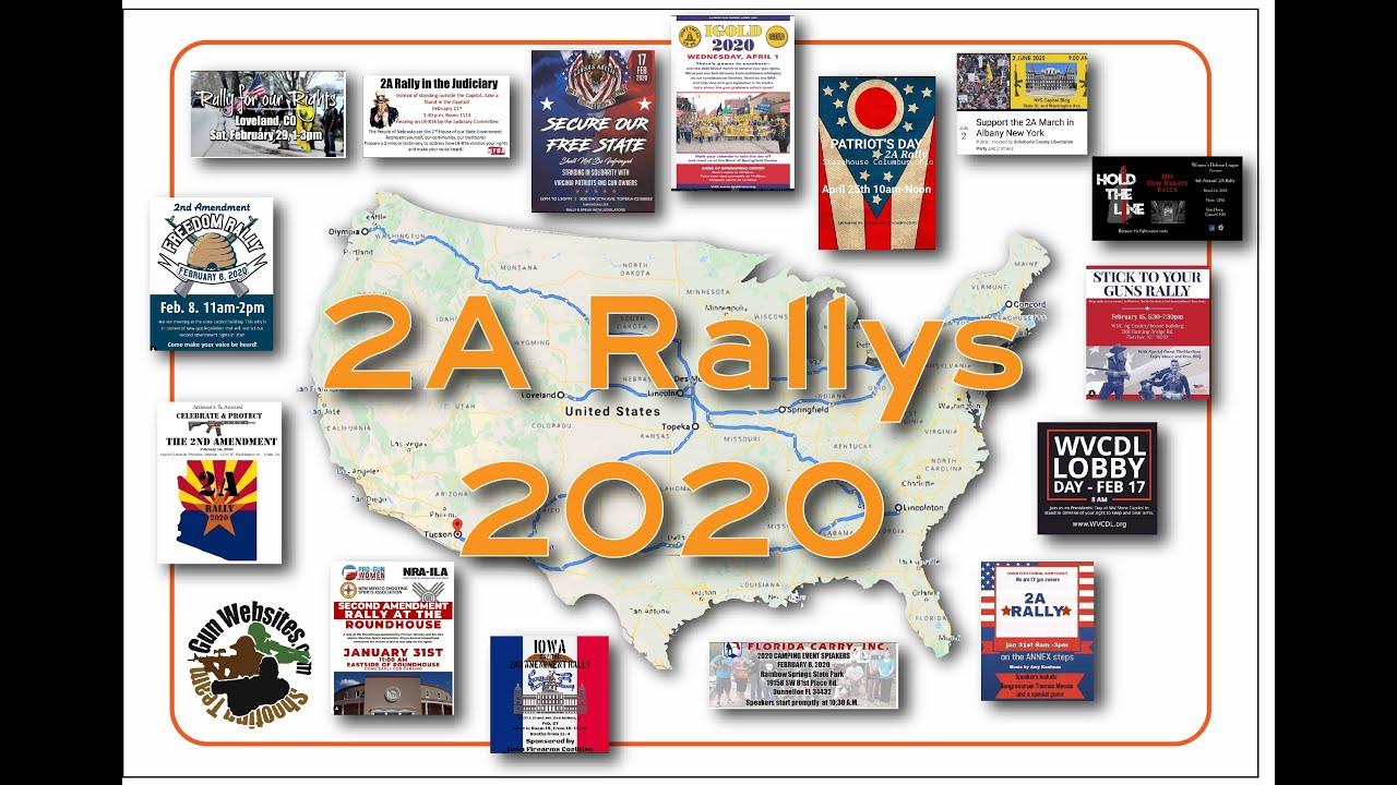 2A Rallys 2020 - 9 Rallys so far, List of 31 Second Amendment Rallys in 2020  #2ARally2020 #2Ain2020