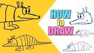 Teaching Children to Draw : How To Draw an Armadillo