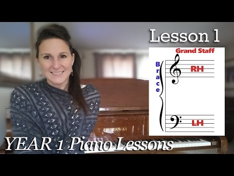 Lesson 1 The Grand Staff | Free Beginner Piano Tutorial - [Year 1]  Lesson 1-1