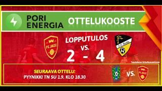 Pori Energia ottelukooste: FC Jazz - FC Honka Akatemia 23.8.2019