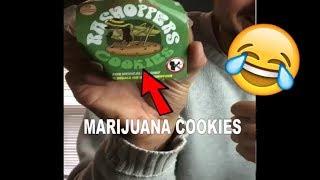 Girlfriend cheats on diet with edible marijuana cookies😂🍪 - hammytv prank on girlfriend