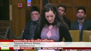 British MP and former Pakistani actress Tasmina Sheikh condemns Persecution of Ahmadiyya Muslims