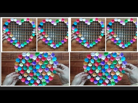DIY Wall Decor - Paper Flower Wall Hanging - Paper Craft - Easy Wall Decoration Idea