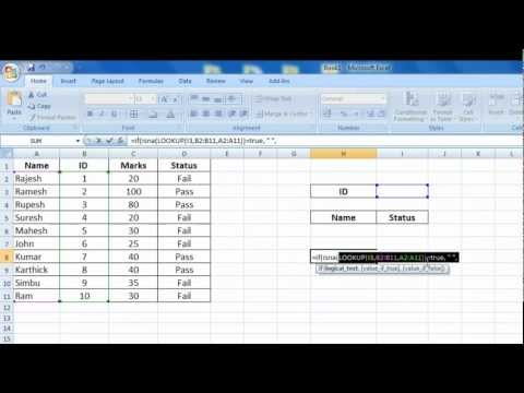 Excel If & Lookup Function in Tamil