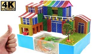 DIY How To Make Amazing Villa house Has Aquarium With Magnetic Balls 💖 Surprise Balls