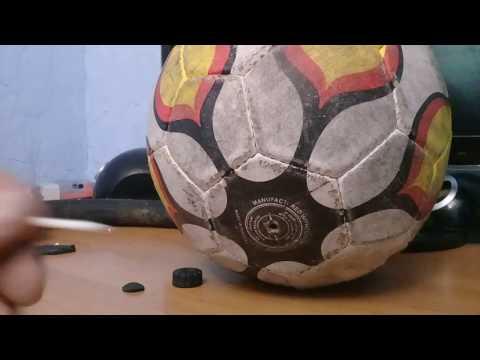 Как накачать мяч в домашних условиях