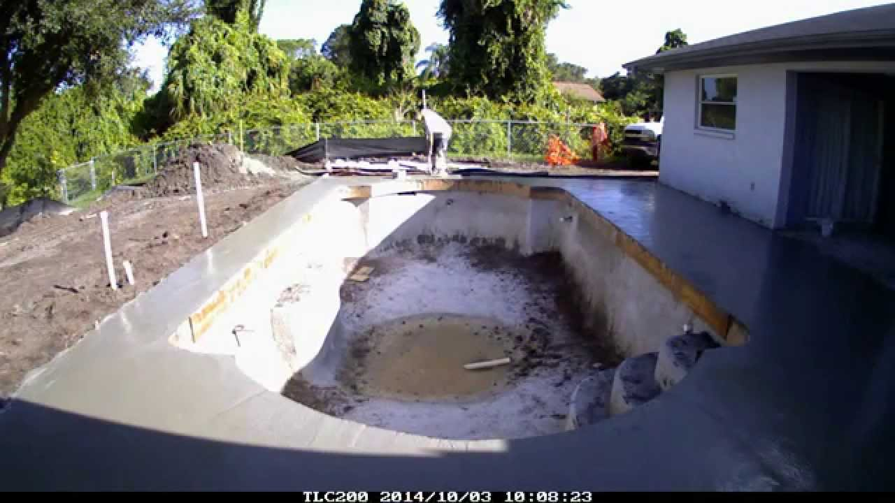 Superior pools video of pouring a concrete deck youtube for Build your own pool deck