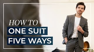 5 Ways To Wear Your Suit