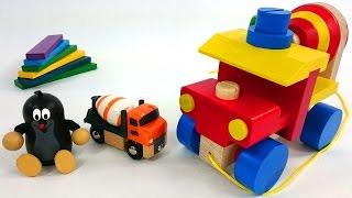 Кротик и бетономешалка - Развивающий мультфильм про игрушечные машинки