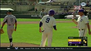 Long Beach State vs TCU Baseball Highlights - Feb. 25