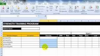EAF #47 - Create a Multi-Week Strength Program Template