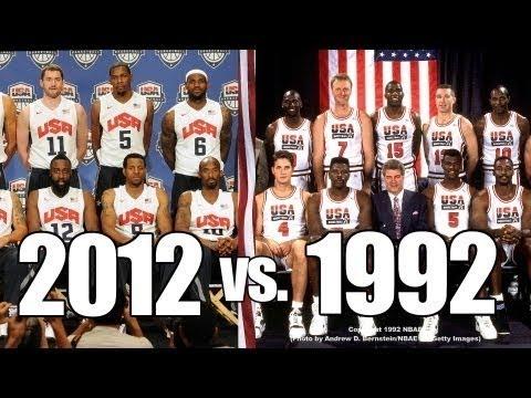 1992 Dream Team vs 2012 Dream Team! - YouTube