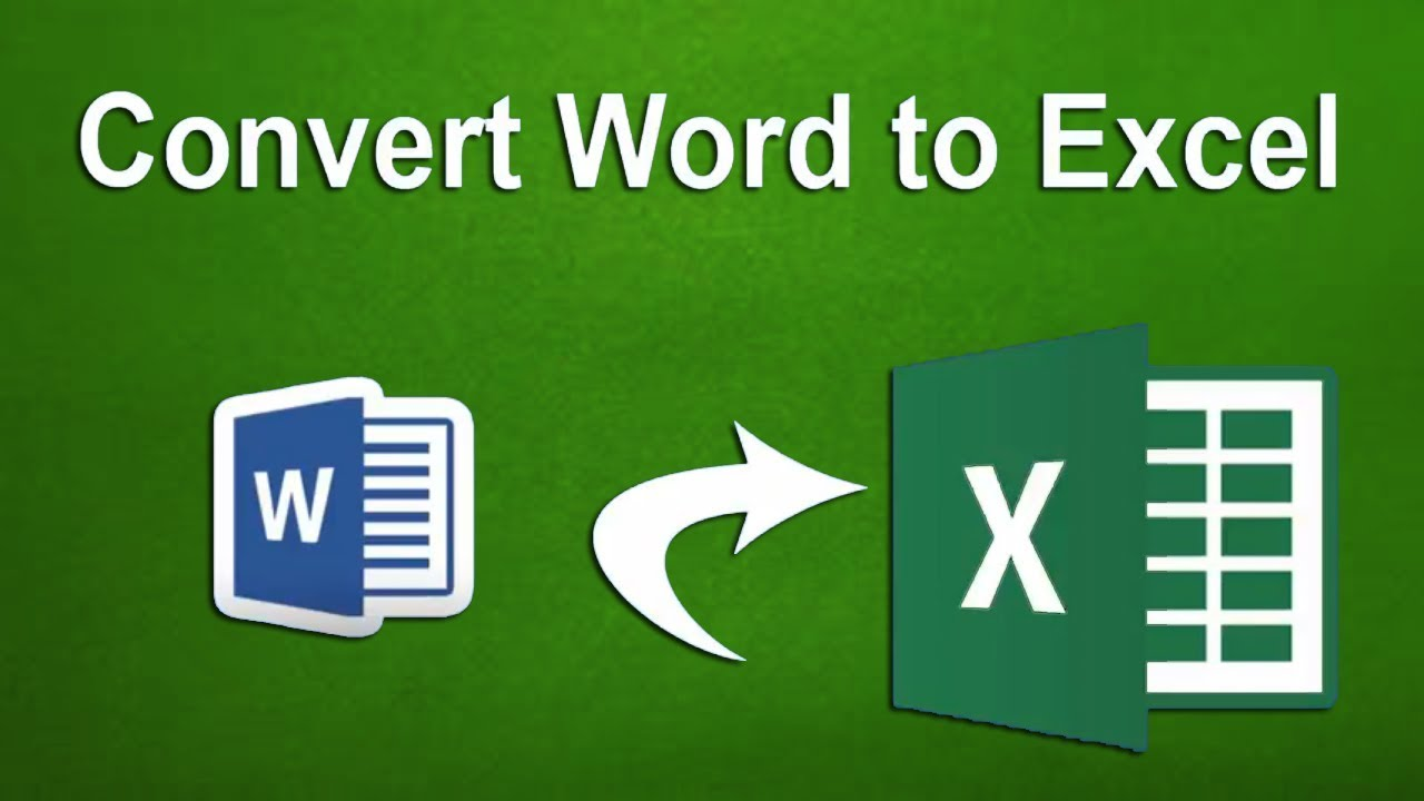 How to Convert Word Document to Excel Spreadsheet in