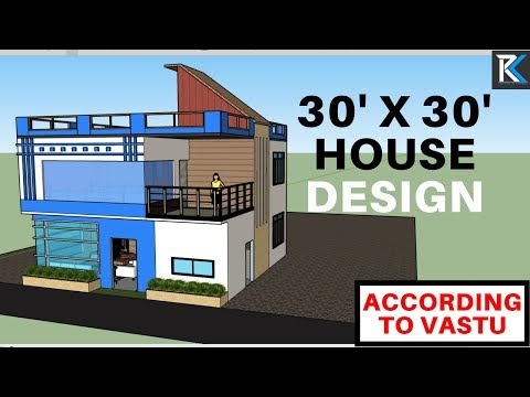 30' X 30' modern house design south facing 2 storied building according to Vastu|| RK Survey&Design