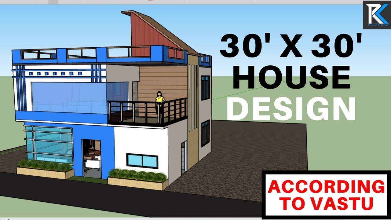 7 30 39 x 30 39 modern house design south facing building for Home design 3d gratis italiano
