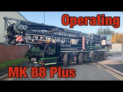 Operating a Mobile Tower Crane - Liebherr MK 88 Plus