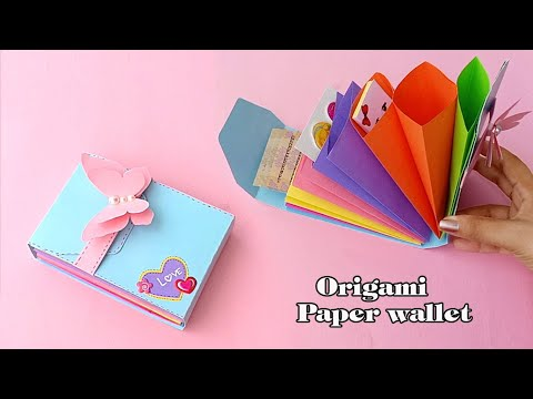 Origami Paper Wallet Tutorial  ||  How To Make Paper Gift Bag || School Hacks