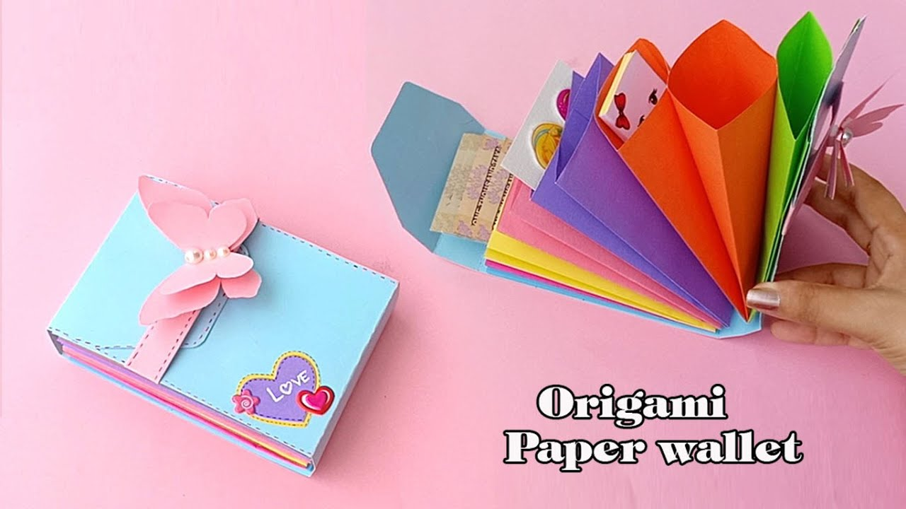 Birthday Gift Ideas /Origami Paper wallet Tutorial | How To Make Paper Gift Bag