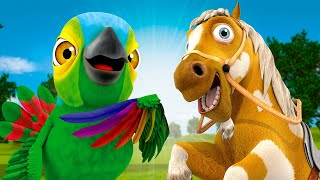 Let's Dance My Draft Horse and More Songs! - Videos for Kids