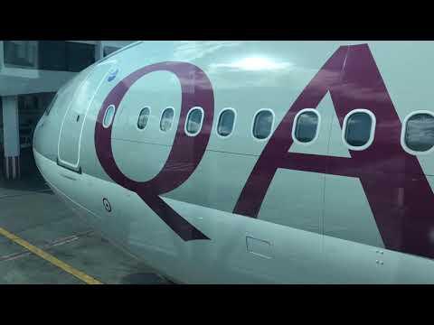 カタール航空フライト チュニス空港着!Qatar Airline Flight arriving at Tunis Airport in Tunisia!