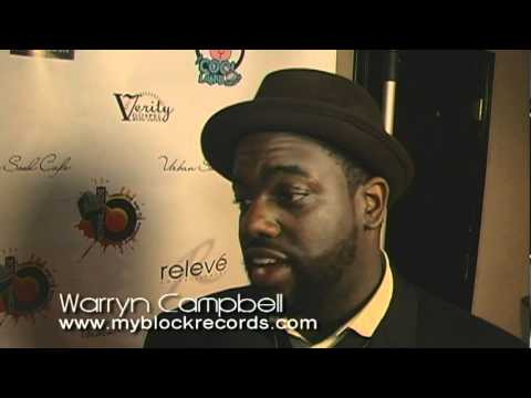 Warryn 'Baby Dub' Campbell interviews @ Urban Soul Cafe 's 2011 Stellar Awards Event