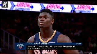 Zion Williamson First Preseason Points  - Pelicans vs Hawks | October 7, 2019 | 2019 NBA Preseason