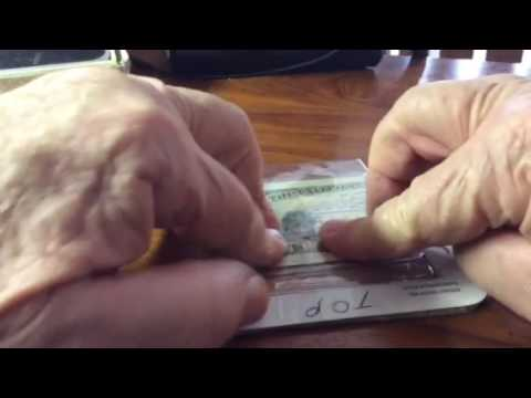 Hawaiian Card Caddy Assemble Big Money Sleeve into the Middle