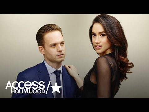 Patrick J. Adams Says He Can't Post About Meghan Markle!
