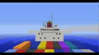 [Minecraft] [★1] 1:1 Container Ship - Containerschiff :)