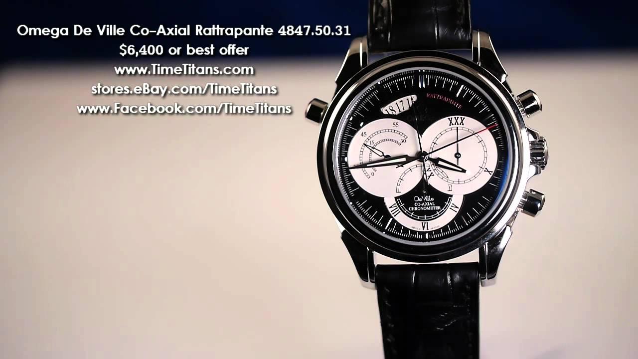 935d1156ec0f8 Omega De Ville Chronoscope Co-Axial Rattrapante 4847.50.31 Cal. 3612 ...