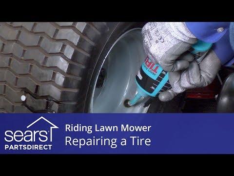 repairing-a-riding-lawn-mower-tire