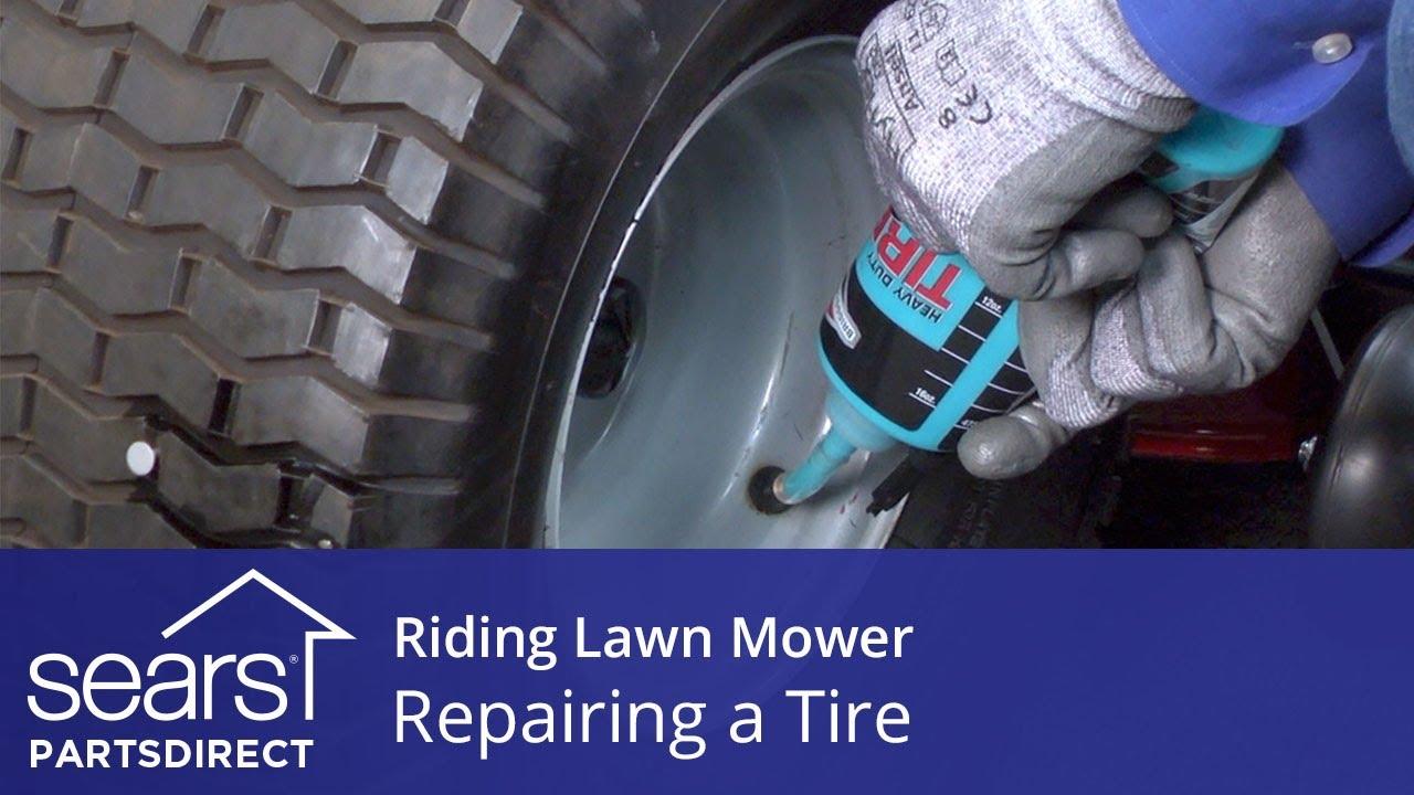 Repairing A Riding Lawn Mower Tire