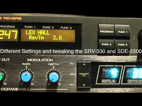 SCI Prophet 5 and Roland SDE 2500 Delay, SRV-330 Reverb