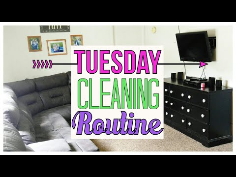 TUESDAY CLEANING ROUTINE   CLEAN WITH ME   SPEED CLEAN