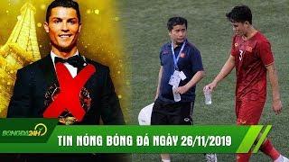 TIN NÓNG BÓNG ĐÁ 26/11 | Hazard gạch tên Messi Ronaldo tại cuộc đua QBV, Thầy Park đón tin không vui