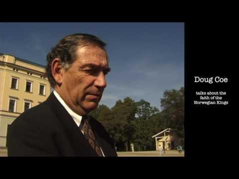 Doug Coe speaks with children