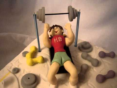 Gym Cake Toppers