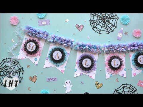 DIY Banner - Little Hot Tamale - Ruffled Crepe Paper Tutorial - Pastel Halloween