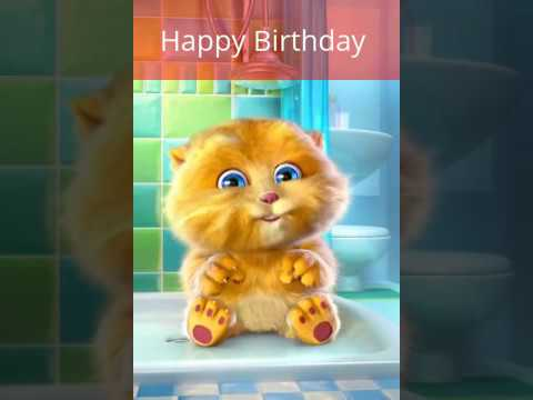Happy Birthday | Cat Singing Happy Birthday to You - Funny Cat Birthday