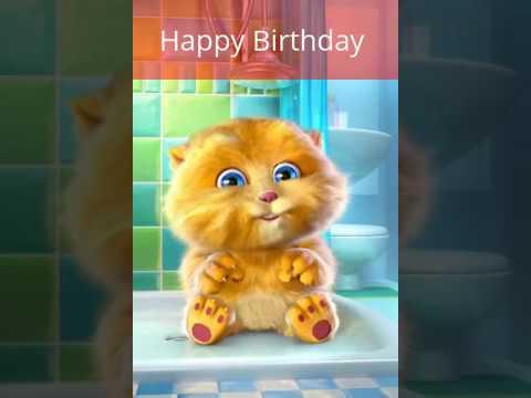 Happy Birthday Cat Singing Happy Birthday To You Funny Cat Birthday Youtube