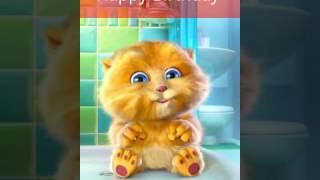Скачать Happy Birthday Cat Singing Happy Birthday To You Funny Cat Birthday