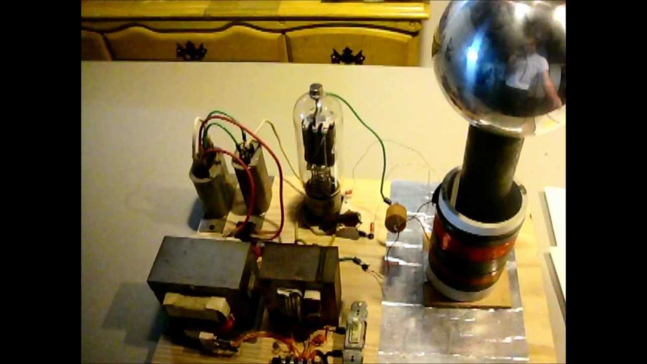 My Vacuum Tube Tesla Coil Circuit Overview And