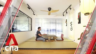 Making Room: A Japanese-themed 990 sq ft HDB flat with an onsen | CNA Lifestyle