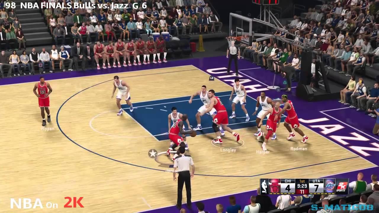 NBA on 2K 1998 NBA FINALS Bulls vs. Jazz Game 6 NBA 2K 15 ...
